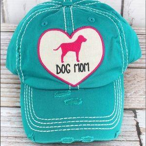 Accessories - Dog Mom Blue Ball Cap